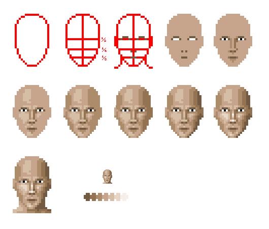 Pixel Face Tutorial By Zanaril On DeviantArt