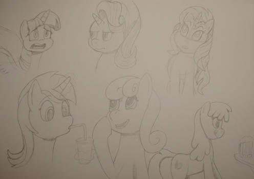 Sketched Ponies