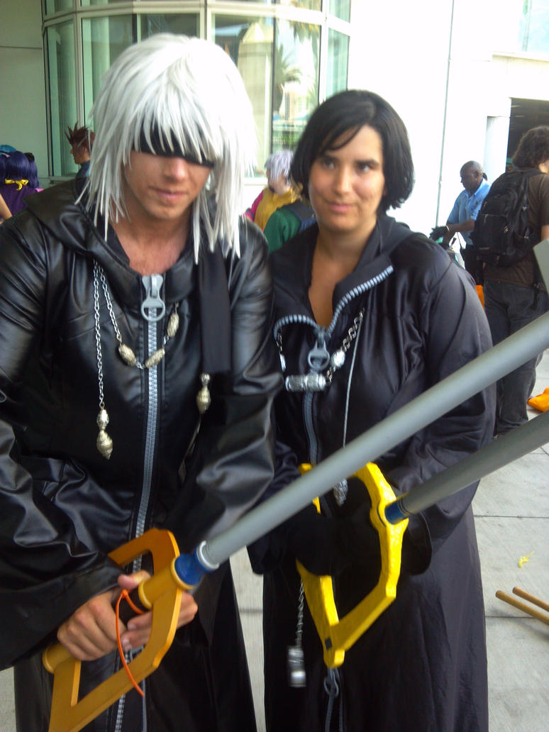 Anime Expo 2014 - Xion and Riku Fighting Heartless by Gaara-Sephiroth