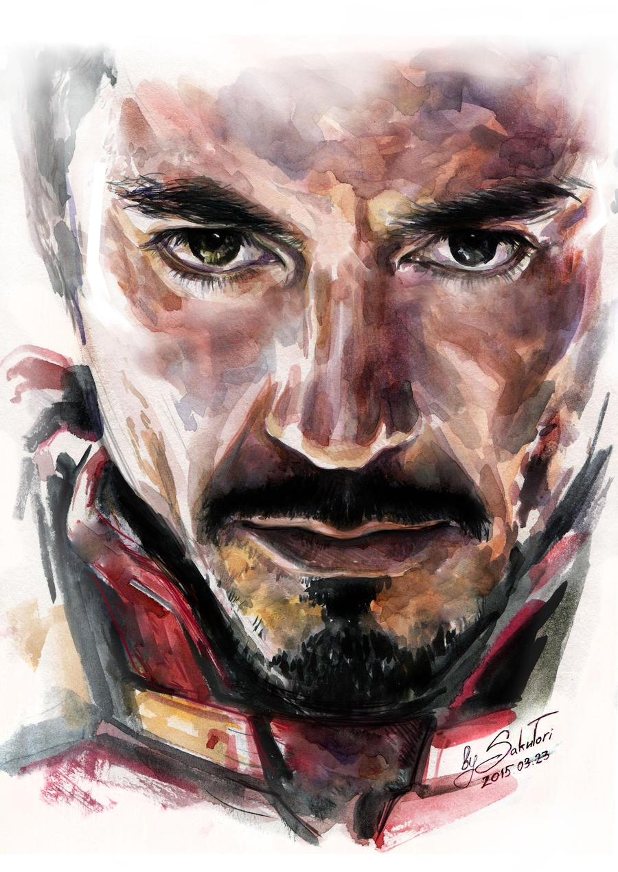 Tony Stark | Iron man | Robert Downey jr by SakuTori