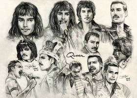 Freddie Mercury sketches