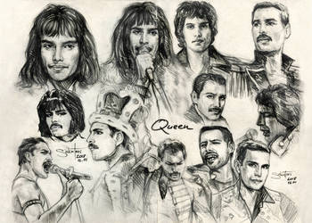 Freddie Mercury sketches by SakuTori