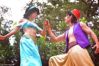 Jasmine and Aladdin [1] by EdmundRayDantes