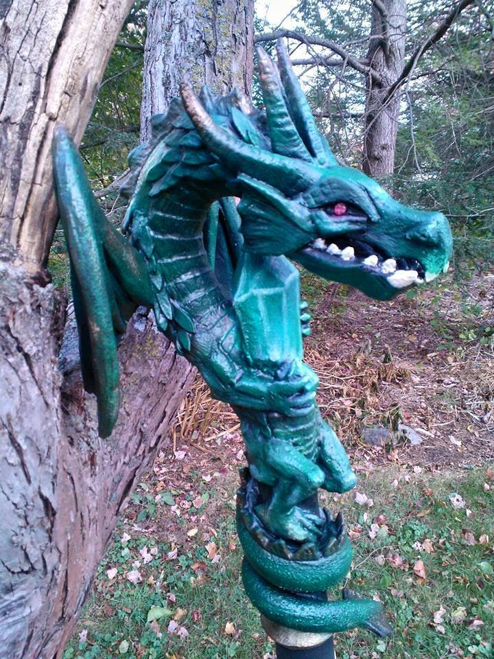Dragon Staff closeup by MortalMagus