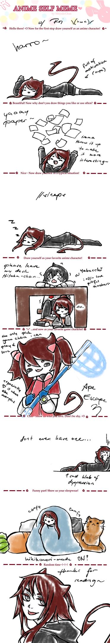 Lazy Anime Self Meme by Akai-Kage on DeviantArt
