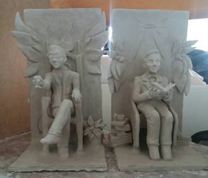 Good Omens Bookends  (WIP)