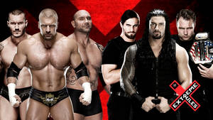 WWE Extreme Rules 2014 - 6 Man Tag Team Match