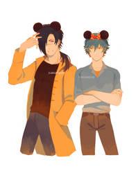 Dmmd KouAo Mickey and Minnie by Sakanayo