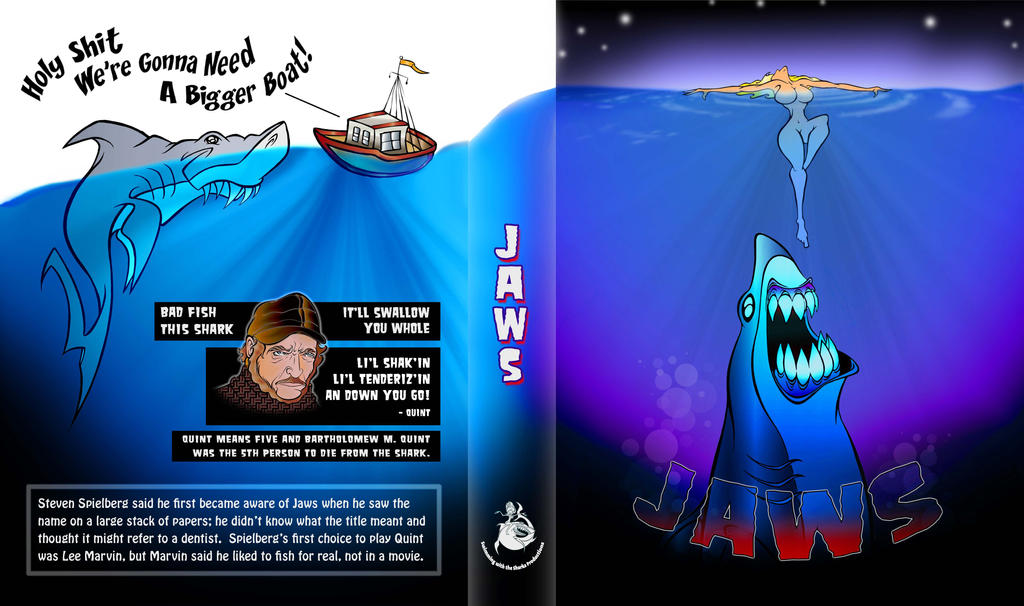 Jaws Book Cover Art : Jaws book cover by gregdean on deviantart