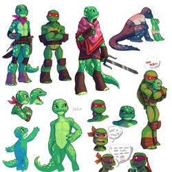 TMNT Irrilia Sketches