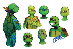 Amazonian Turtles Concept Art