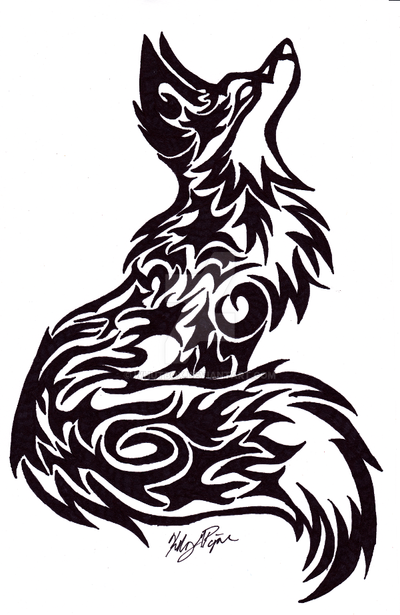 Tribal fox tattoo by whutbox on deviantart for Cool fox drawings