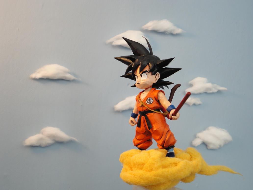 kid goku on flying - photo #2