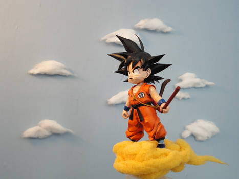 Goku on the Flying Nimbus!