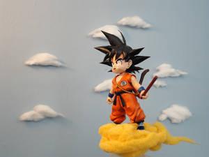 Goku on the Flying Nimbus!