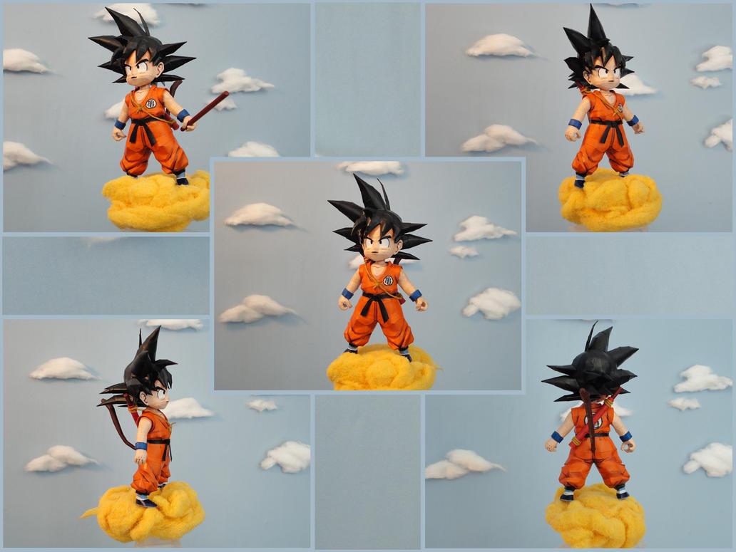 Goku Kid Papercraft by BRSpidey