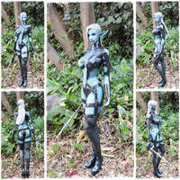Female Dark Elf papercraft by BRSpidey