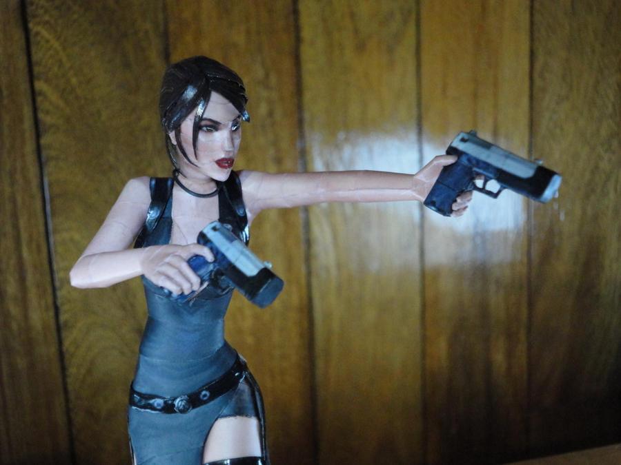 Lara Croft Tokyo Dress (close-up) by BRSpidey