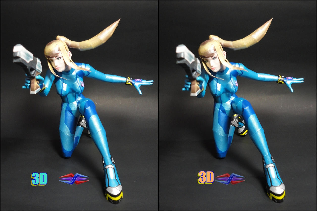 Samus Aran SSB4 papercraft (3D View) by BRSpidey on DeviantArt