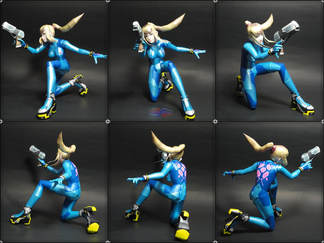 Samus Aran Zero Suit SSB4 Papercraft by BRSpidey on DeviantArt