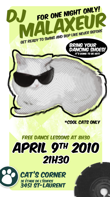 DJ poster - Swinging Cats by greendice
