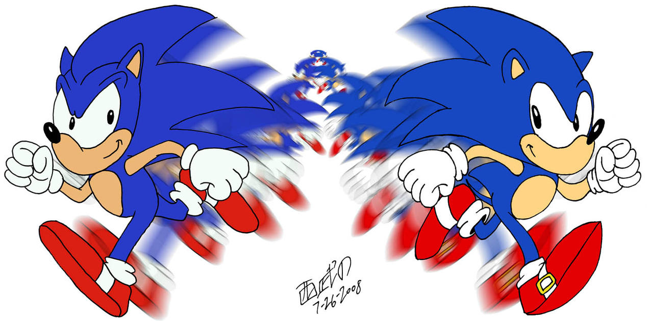 Request: Race - Sonic vs Sonic by TuxedoMoroboshi