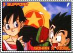 Gohan x Videl Stamp by TuxedoMoroboshi