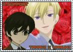 Tamaki x Haruhi Stamp by TuxedoMoroboshi