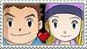 Junpei x Izumi Stamp by TuxedoMoroboshi