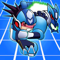 Rockman has colors by TuxedoMoroboshi