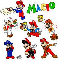Buncha Marios by TuxedoMoroboshi