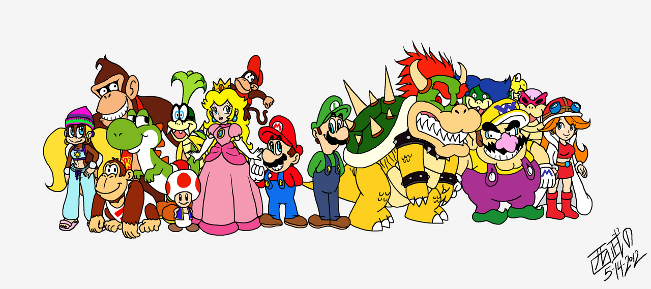 Random Mario Group Shot by TuxedoMoroboshi