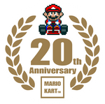 Mario Kart 20th Anniversary Logo