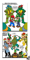 Teenage Mutant Ninja Turtles vs. Super Mario Bros.
