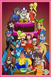 Happy 25th Anniversary, Mega Man! by TuxedoMoroboshi