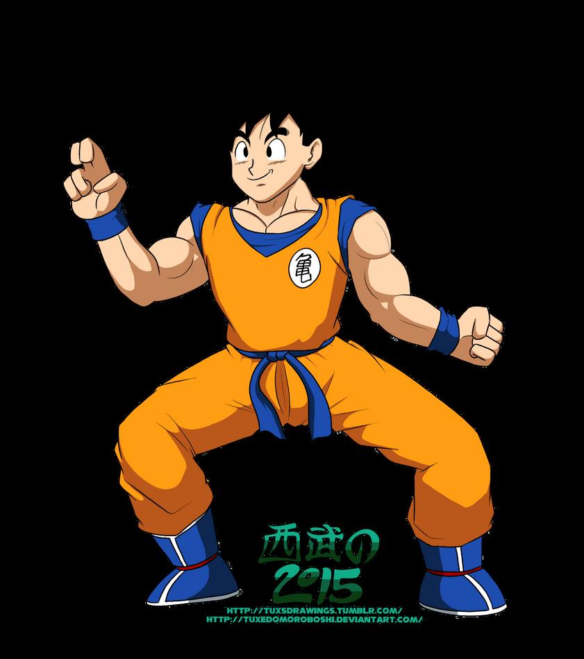 Son Goku Fighting Stance by TuxedoMoroboshi on DeviantArt