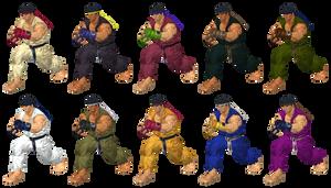 XNALara SFV Ryu Alternate Color Pack
