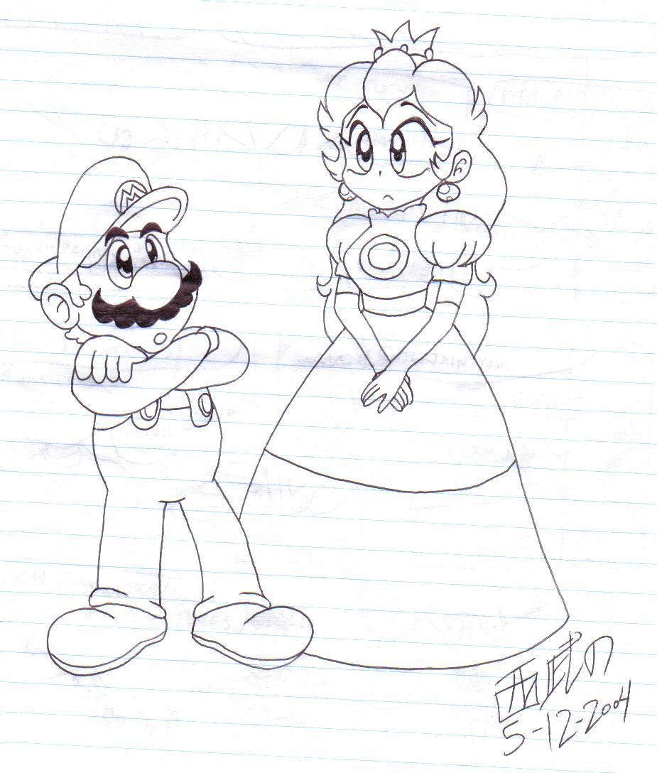 mario and peach by tuxedomoroboshi on deviantart