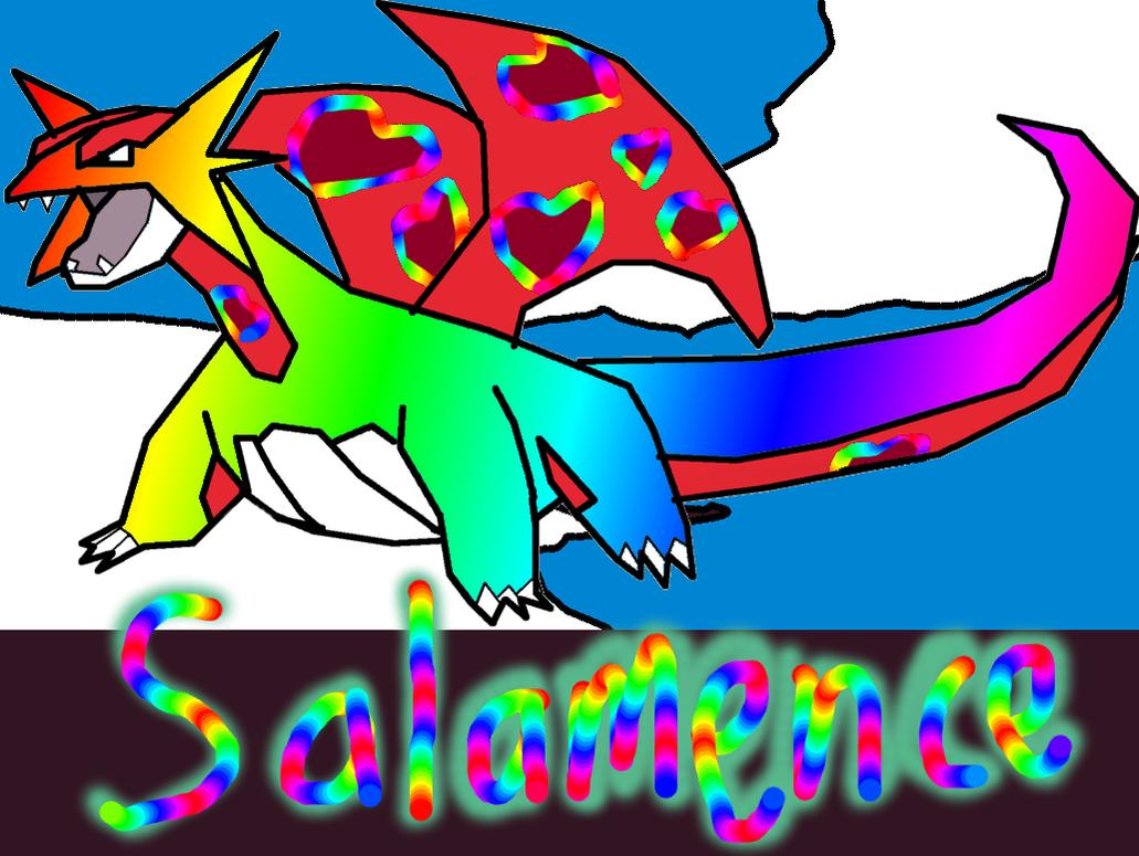 Raaaaaainbow Salamence :D by BudCharles