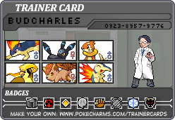 My Trainer Card by BudCharles