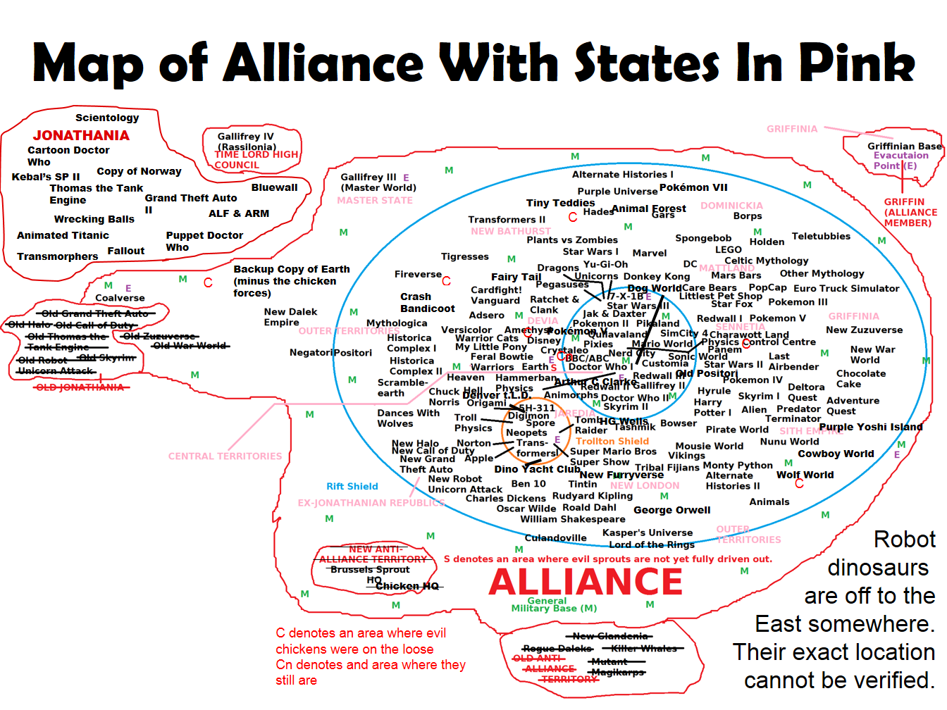 Current Map of the Alliance by BudCharles