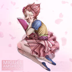 Pink Pearl - A Single Pale Rose by miguel-amshelo
