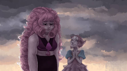 Rose and Pearl - Now we're only falling apart by miguel-amshelo