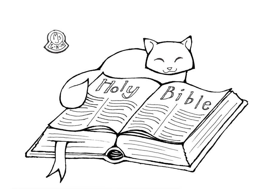 The Bible Coloring Page - Democraciaejustica