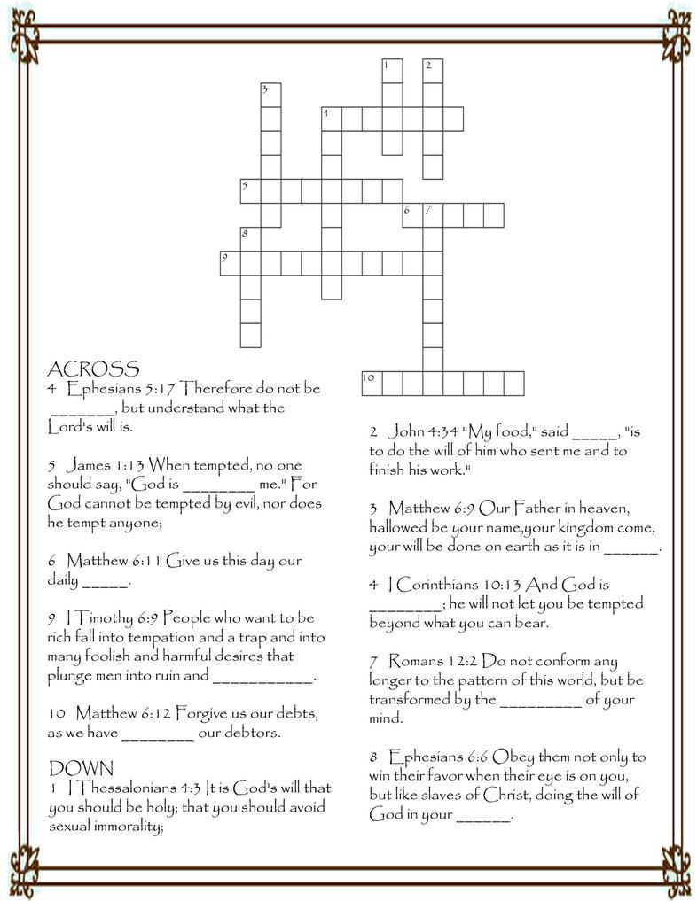 Bible Puzzles | New Calendar Template Site