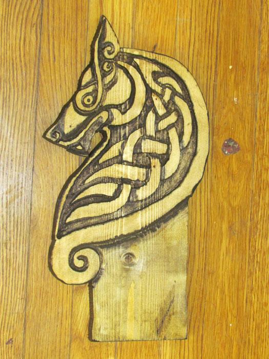 Celtic wolf carving by lupas deva on deviantart