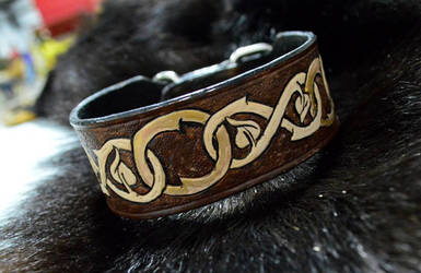 Leather Dog Collar by Lupas-Deva