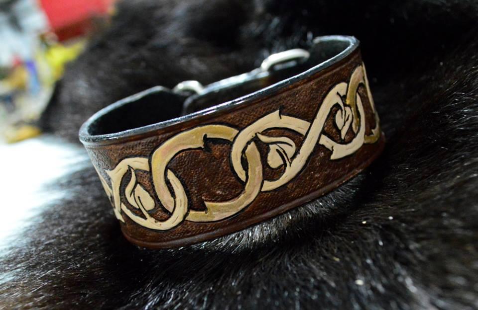 Leather Dog Collar by Lupas-Deva