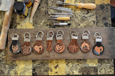Custom Leather Keychains by Lupas-Deva