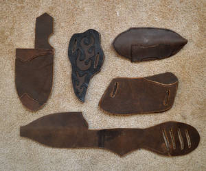 Leather Sheaths WIP by Lupas-Deva